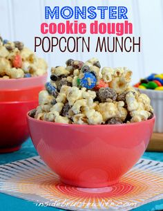 Monster Cookie Dough Popcorn Munch