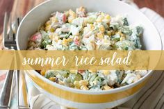 Summer Rice Salad | Food Confidence -- great for barbecues and picnics! #cleaneating