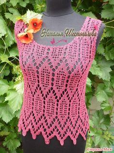 Katia Ribeiro Moda   Decoração Handmade  Blusa Crochê Croche Diferente 96b46834bd6