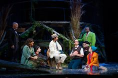 #TwoRiverWILLOWS #PHOTO : The full company for A Wind in the Willows Christmas. Photo by T. Charles Erickson.