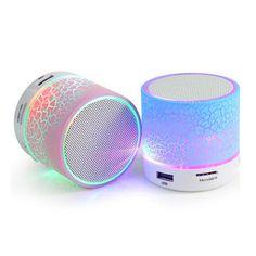 mini LED Bluetooth speaker portable wireless Hand-free music speaker with TF USB FM subwoofer mic Bluetooth speaker for mobile p Music Speakers, Audio Music, Speakers Online, Smartwatch, Mini Bluetooth Speaker, Portable Speakers, Earphone Case, Tablet, Loudspeaker