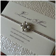 Divine Crystal wedding invitation