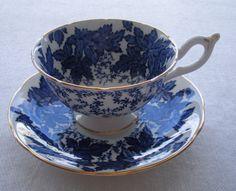 Coalport Bone China  Teacup  Vintage Coalport Cobalt by TakeMyHart, $30.00