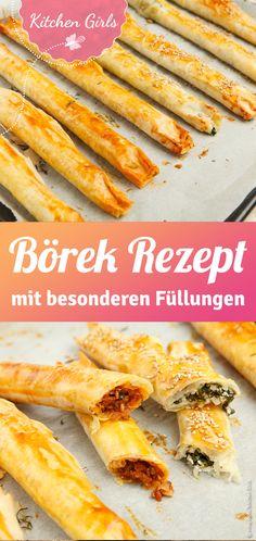 Börek selber machen - Sole Local My Site Authentic Mexican Recipes, Mexican Food Recipes, Ethnic Recipes, Yummy Recipes, Food Photo, Hot Dog Buns, Guacamole, Bacon, Turkey