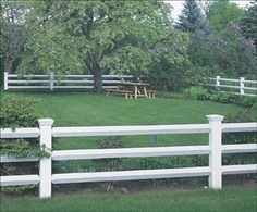Manchester Fence - Smooth 5 square posts are bevel topped with eased edges and flutes. Mortise and tenon installation. Offered in two and three rail choices, it is highlighted here with our Westport Caps. Vinyl Pergola, Wood Pergola, Pergola Shade, Post And Rail Fence, Split Rail Fence, Fence Posts, Front Yard Fence, Fence Gate, Farm Gate