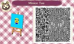 Here's a minion tee I designed for #animalcrossing #qrcode