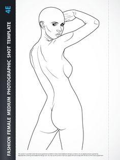 Fashion design body template