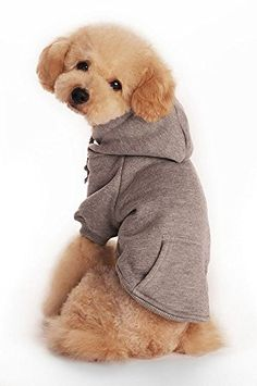"Fashion shop Pet Coat Polyester/Cotton Basic Dog Hoodie,Dog Jacket,Dog fleece for young dog and Large dog,6 sizes avaiable and 4 Color for choose . (Gray, L (Back 13"")) ** Be sure to check out this helpful article."