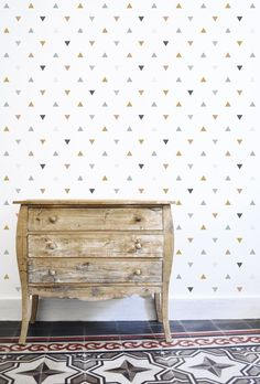 Triangles Wallpaper - Silk Interiors Wallpaper Australia  Available from www.silkinteirors.com.au #wallpaper #wallpaperforwalls #kidswallpaper #triangles