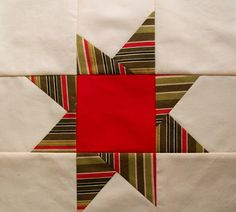 "Here's a simply tutorial on how to make a 12.5"" wonky star block for the Bushfire Quilt Project , which I blogged about in the previous po..."
