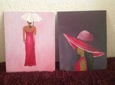 Dames geschilderd