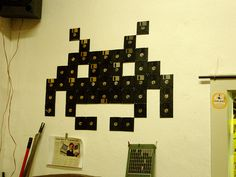 Floppy Disk Space Invader Wall Art! Looks fantastic and is infinitely doable thank you internet!