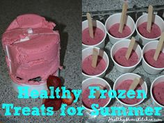 It is a HOT summer!  Making healthy popsicles is easy, inexpensive, and will give your kids the fuel they need for hot summer fun! http://healthymomskitchen.com #recipe #healthy