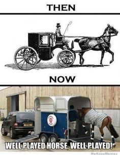 Well played horse, well played.
