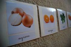Merci qui ? MERCI MONTESSORI !: Cartes de nomenclature : fruits et légumes d'hiver