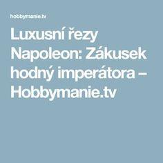 Luxusní řezy Napoleon: Zákusek hodný imperátora – Hobbymanie.tv Napoleon, Tv, Television Set, Television