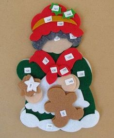 Felt Christmas Decorations, Felt Christmas Ornaments, Handmade Ornaments, Handmade Toys, Christmas Themes, Handmade Christmas, All Things Christmas, Christmas Holidays, Halloween Christmas