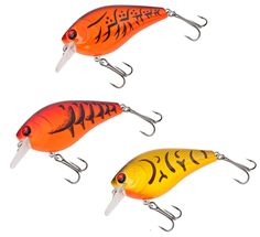 Matzuo Pro Square Bill Size 7 Craw Assortment 3 Pack  The Pro Square Bill series baits are shallow running crankbaits that reach 4 - 6 feet on retrieve. They feature a rattling, tight-swimming action that helps you cover and remain in a larger area of the water column. The square bill prevents snags, allowing you to bump the lure off cover and the bottom.