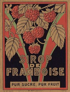 Vintage French Label - Framboise - The Graphics Fairy