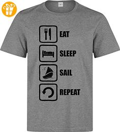 Eat Sleep Sail Repeat Funny Black Graphic Design Men's T-Shirt XX-Large (*Partner-Link)