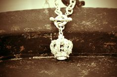 "Please address me today as ""Your Majesty..."" Crowned Classic available in Sterling Silver or pewter.  www.bcharmed.com"