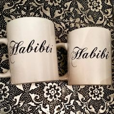 Beautiful gift for a Bride and Groom! This simple yet stylish set of mugs also make lovely gift for your anniversary, or for those times you just want to say 'I love you!'