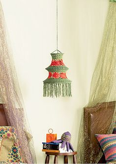 crocheted chandelier. who will make this for me???
