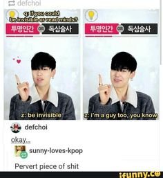 "Hahahahaha why Zelo XD Just love the comment "" pervert piece of shit"" x)"