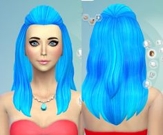 Darkiie Sims Recolor 31 Hairstyle recolors Long hairstyles for Females ~ Sims 4 Hairs Sims Hair, Sims 4 Clothing, Long Hair Styles, Female, Disney Princess, Organize, Hairstyles, Clothes, Nails