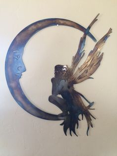 Fairy Moon Metal Wall Art Decor