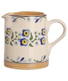Nicholas Mosse, Small Blue Forget Me Not Cylinder Jug, £34.95. #libertyhome #nicholasmosse #jugs