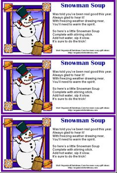 image regarding Snowman Soup Free Printable called Pin upon Vacations, Birthdays, and Functions