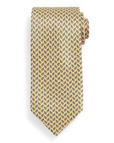 Flower+Paisley+Neat+Tie,+Yellow+by+Ermenegildo+Zegna+at+Neiman+Marcus.