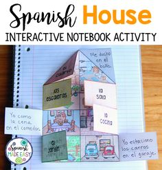 Spanish House interactive notebook activity.