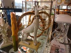Terra Cotta GREYHOUND...Hollywood Regency MEETS Palm Beach