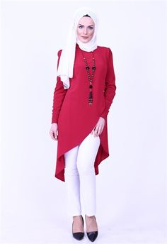 Neşe Kolyeli Anvelop Tunik Bordo 3067