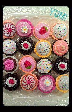 Cutest cupcake lipgloss! We've got chocolate, vanilla, rasberry, and strawberry   $4 each