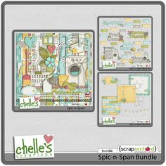 Spic-n-Span Bundle by Chelle's Creations!  Chelle is so creative. I love this!  Not many make a kit about cleaning, this is so cool!