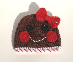 christmas baby crochet gingerbread hat