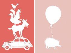 Egel met Ballon Roze