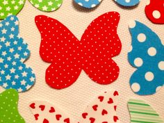 LG Butterflies Embellishment Appliques, Craft Supplies, No Sew, Fusible, Iron On, Scrap Book Embellishments, Quilt Appliques FREE SHIPPING! by TMStreasures on Etsy
