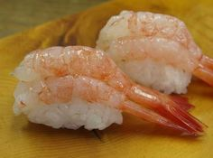 Sweet shrimp nigiri sushi