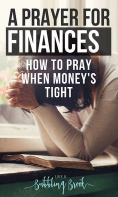 Struggling with knowing how to pray in this hard season? Here's a prayer for finances that you can use when money's tight and you feel overwhelmed. Don't just rely on how to budget, save money, or make money -- take it to the Lord in prayer! Prayer Scriptures, Bible Prayers, Faith Prayer, God Prayer, Prayer Room, Prayer Quotes, Power Of Prayer, Bible Verses, Prayer For Money