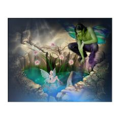 Shop Faerie in Elven Pond Vignette Nighttime Acrylic Print created by WhimsicalArtwork. Personalize it with photos & text or purchase as is! Acrylic Wall Art, Wood Wall Art, Wall Art Decor, Fantasy Gifts, Fantasy Art, Lily Pad, Faeries, Night Time, Vignettes