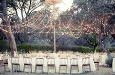 twinkling light canopy - perfect for summer weddings