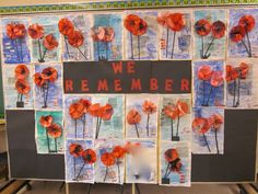 First Grade Fun: Remembrance Day Bulletin Board. Remembrance Day Activities, Remembrance Day Art, Grade 1 Art, Grade 2, Fall Crafts, Arts And Crafts, Harmony Day, Ww1 Art, Cultural Crafts