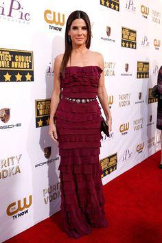 Sandra Bullock attends the 19th Annual Critics' Choice Movie Awards at Barker Hangar on January 16, 2014