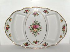 ROYAL ALBERT APPETIZER TRAY ~ OLD COUNTRY ROSES 1962 ~ NEW STILL HAS TAG