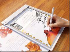 Future technology Iris Tablet - concept a transparent tablet
