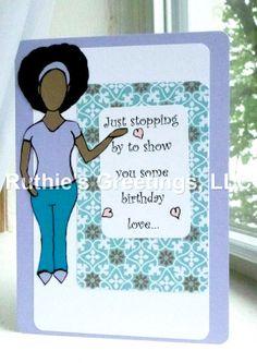 28 best ruthies greetings handmade african american greeting cards african american woman birthday card birthday love by ruthies greetings m4hsunfo
